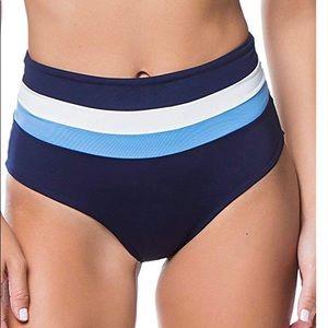 Identical high waisted bathing suit bottom